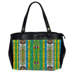 Rainbows Rain In The Golden Mangrove Forest Office Handbags (2 Sides)  by pepitasart