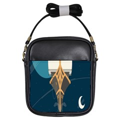 Planetary Resources Exploration Asteroid Mining Social Ship Girls Sling Bags by Mariart