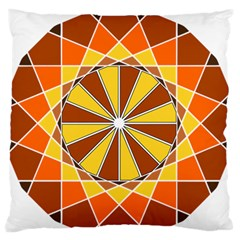 Ornaments Art Line Circle Standard Flano Cushion Case (one Side) by Mariart