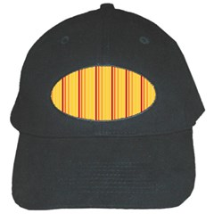 Red Orange Lines Back Yellow Black Cap by Mariart