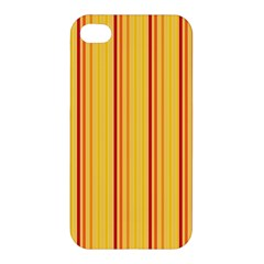 Red Orange Lines Back Yellow Apple Iphone 4/4s Hardshell Case by Mariart