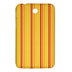 Red Orange Lines Back Yellow Samsung Galaxy Tab 3 (7 ) P3200 Hardshell Case  by Mariart