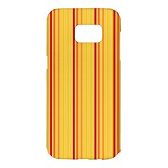 Red Orange Lines Back Yellow Samsung Galaxy S7 Edge Hardshell Case by Mariart