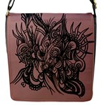 Dirty pink abstract bag - Flap Closure Messenger Bag (S)