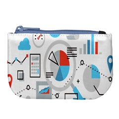 Science Mathematics Formula Large Coin Purse by Mariart
