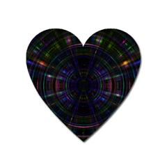 Psychic Color Circle Abstract Dark Rainbow Pattern Wallpaper Heart Magnet by Mariart