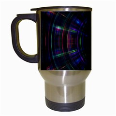 Psychic Color Circle Abstract Dark Rainbow Pattern Wallpaper Travel Mugs (white) by Mariart