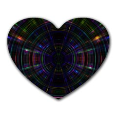 Psychic Color Circle Abstract Dark Rainbow Pattern Wallpaper Heart Mousepads by Mariart
