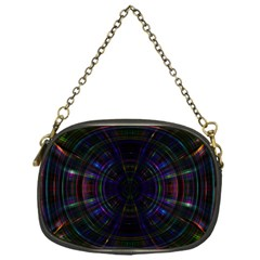 Psychic Color Circle Abstract Dark Rainbow Pattern Wallpaper Chain Purses (one Side)  by Mariart
