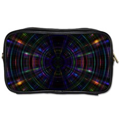 Psychic Color Circle Abstract Dark Rainbow Pattern Wallpaper Toiletries Bags 2 Side by Mariart