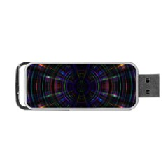 Psychic Color Circle Abstract Dark Rainbow Pattern Wallpaper Portable Usb Flash (one Side) by Mariart