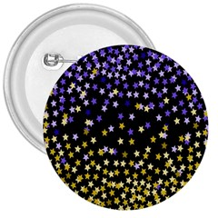 Space Star Light Gold Blue Beauty 3  Buttons by Mariart