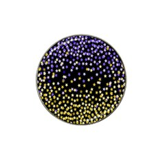 Space Star Light Gold Blue Beauty Hat Clip Ball Marker (10 Pack) by Mariart