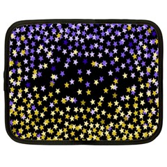 Space Star Light Gold Blue Beauty Netbook Case (xxl)  by Mariart