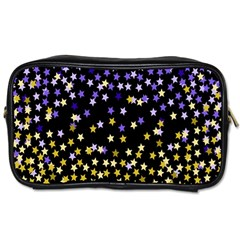Space Star Light Gold Blue Beauty Toiletries Bags by Mariart