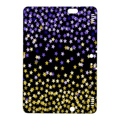 Space Star Light Gold Blue Beauty Kindle Fire Hdx 8 9  Hardshell Case by Mariart