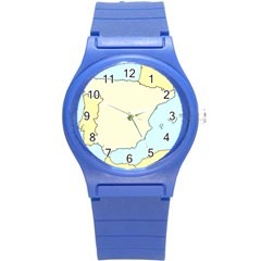 Spain Map Modern Round Plastic Sport Watch (s) by Mariart