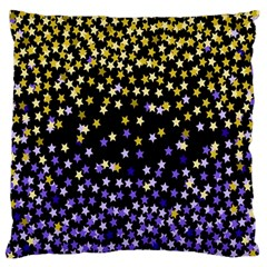 Space Star Light Gold Blue Beauty Black Standard Flano Cushion Case (two Sides) by Mariart
