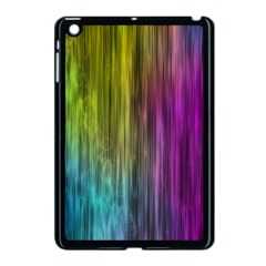 Rainbow Bubble Curtains Motion Background Space Apple Ipad Mini Case (black) by Mariart