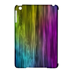Rainbow Bubble Curtains Motion Background Space Apple Ipad Mini Hardshell Case (compatible With Smart Cover) by Mariart