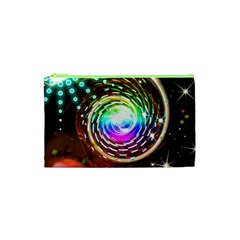 Space Star Planet Light Galaxy Moon Cosmetic Bag (xs) by Mariart