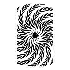 Spiral Leafy Black Floral Flower Star Hole Memory Card Reader by Mariart
