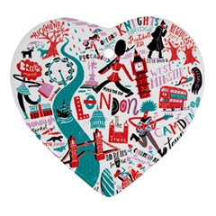 London Illustration City Ornament (heart) by Mariart