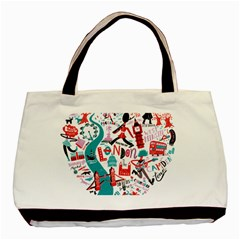 London Illustration City Basic Tote Bag by Mariart