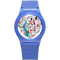 London Illustration City Round Plastic Sport Watch (s) by Mariart