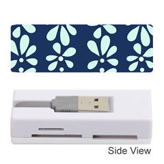 Star Flower Floral Blue Beauty Polka Memory Card Reader (stick)