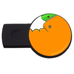 Star Line Orange Green Simple Beauty Cute Usb Flash Drive Round (2 Gb) by Mariart