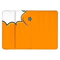 Star Line Orange Green Simple Beauty Cute Samsung Galaxy Tab 8 9  P7300 Flip Case by Mariart