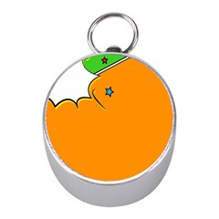 Star Line Orange Green Simple Beauty Cute Mini Silver Compasses by Mariart