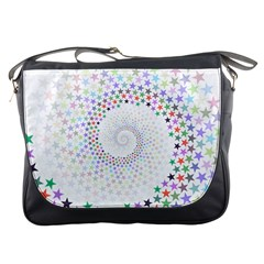Prismatic Stars Whirlpool Circlr Rainbow Messenger Bags by Mariart