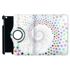 Prismatic Stars Whirlpool Circlr Rainbow Apple Ipad 2 Flip 360 Case by Mariart