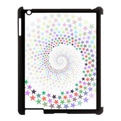 Prismatic Stars Whirlpool Circlr Rainbow Apple Ipad 3/4 Case (black) by Mariart
