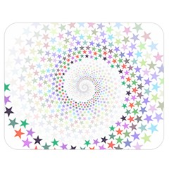 Prismatic Stars Whirlpool Circlr Rainbow Double Sided Flano Blanket (medium)  by Mariart