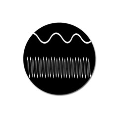 Style Line Amount Wave Chevron Magnet 3  (round) by Mariart