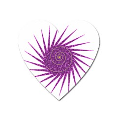 Spiral Purple Star Polka Heart Magnet by Mariart