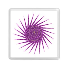 Spiral Purple Star Polka Memory Card Reader (square)  by Mariart