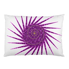 Spiral Purple Star Polka Pillow Case (two Sides) by Mariart