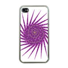Spiral Purple Star Polka Apple Iphone 4 Case (clear) by Mariart