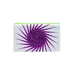 Spiral Purple Star Polka Cosmetic Bag (xs) by Mariart