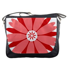 Sunflower Flower Floral Red Messenger Bags by Mariart