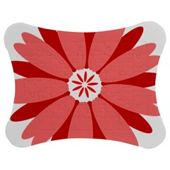 Sunflower Flower Floral Red Jigsaw Puzzle Photo Stand (bow) by Mariart