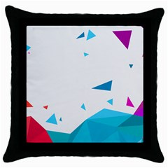 Triangle Chevron Colorfull Throw Pillow Case (black) by Mariart