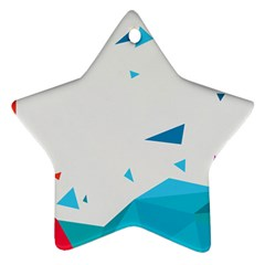 Triangle Chevron Colorfull Star Ornament (two Sides) by Mariart