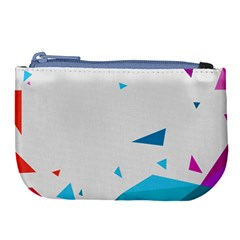 Triangle Chevron Colorfull Large Coin Purse by Mariart