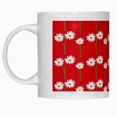 Sunflower Red Star Beauty Flower Floral White Mugs by Mariart