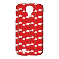 Sunflower Red Star Beauty Flower Floral Samsung Galaxy S4 Classic Hardshell Case (pc+silicone) by Mariart
